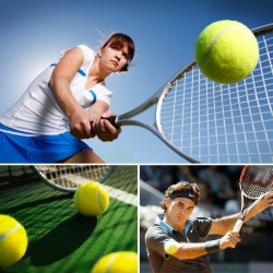 Урок большого тенниса