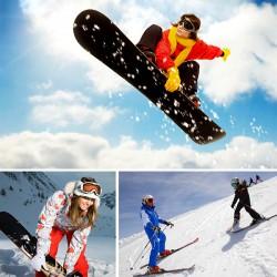 Урок катания на сноуборде или горных лыжах