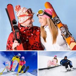 Урок катания на сноуборде или лыжах для двоих