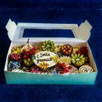 Фруктовая коробочка с конфетами из бельгийского шоколада