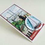 """OVLD-0013 Открытка """"Владивосток"""" (графический коллаж, яхта)"""